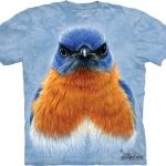 Pre.เสื้อยืดพิมพ์ลาย3D The Mountain T-shirt : Eastern Bluebird