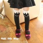 ถุงเท้ายาวหนาแมวสีดำ
