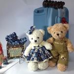 ตุ๊กตาหมีคู่ ใส่ชุดเอี๊ยมน่ารัก size M