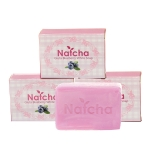 สบู่ Natcha Gluta Blueberry White Soap สีม่วง