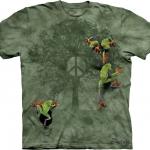 Pre.เสื้อยืดพิมพ์ลาย3D The Mountain T-shirt : Peace Tree Frog