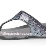 รองเท้า Fitflob Electra Strata ปักเลื่อมเกรดปลาสลับสี  สีบอร์นเงิน  No.FF013