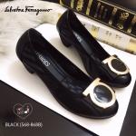 รองเท้าคัชชู style ferragamo ทำจากหนังนิ่มอะไหล่ ferragamo ขอบเป็นผ้ายางยืด