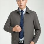 Pre-Order เสื้อเจ็คเก็ตผู้ชาย ผ้าไหมจีน แฟชั่นเสื้อทำงานแบบกึ่งทางการ สีเทา