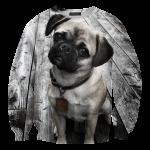 เสื้อยืดพิมพ์ลาย MR.GUGU & Miss GO : Pug sweater