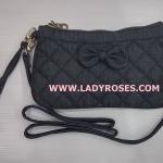 กระเป๋าสะพาย นารายา ผ้าเดนิม สียีนส์ดำ ประดับโบว์ (กระเป๋านารายา กระเป๋าผ้า NaRaYa กระเป๋าแฟชั่น)