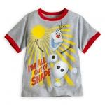 Olaf Ringer Tee for Boys - Frozen (Size4) ของแท้ นำเข้าจากอเมริกา