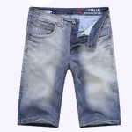 (Pre-Order) กางเกงขาสั้น กางเกงลำลอง สีบูลยีนส์ หินขัดสีขาว กางเกงหนุ่มมาดเข้ม หนุ่มมาดแมน แฟชั่นเกาหลี