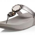 รองเท้า Fitflob Luna Silver เพชร 2 เม็ด สีบอรนด์เงิน  No.FF080