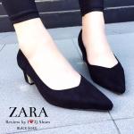 รองเท้าคัชชู STYLE ZARA ทำจากผ้าสักกลาดใส่แล้วขับผิวมาก ๆ