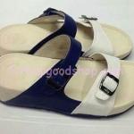 รองเท้า Fitflop New สวม เข็มขัด สีน้ำเงินคาดขาว No.FF432