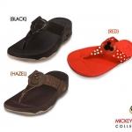 รองเท้า Fitflob Mickey Black มิกกี้เมาส์ สีดำ No. FF093