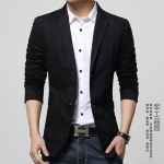 Pre-Order เสื้อสูท สูทลำลอง เบลเซอร์ลำลองผ้าฝ้าย สีดำ