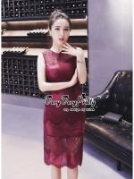 พร้อมส่ง ~ Luxury Sleeveless Lace Slim Dress By vvp