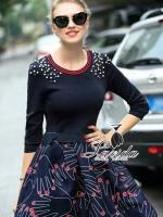พร้อมส่ง ~ Korea Design By Lavida mugabe became nail lace dress