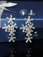 พร้อมส่ง ~ A~Dora ฺBrand New Fashion Crystal Long Snowflake Flower Dangle Drop Tassel Earrings