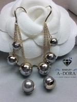 พร้อมส่ง ~ Christsin Dior ต่างหูมุกห้อยระย้าหรูหราสง่ามาก