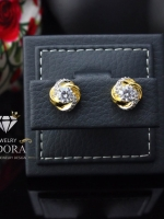 พร้อมส่ง ~ A~Dora Brand 18K Gold Plated Earrings CZ Flower Stud Earrings Fashion Jewelry
