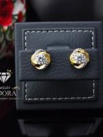 พร้อมส่ง ~ A~Dora Brand 18K Gold Plated Earrings CZ Flower Stud Earrings Fashion Jewelry