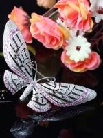 พร้อมส่ง ~ A~Dora Brand Vintage 2 Colors Butterfly Brooch Pin AAA+ CZ Diamond