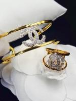 พร้อมส่ง ~ กำไลข้อมือและแหวน Chanel งานทอง 5 ไมครอน