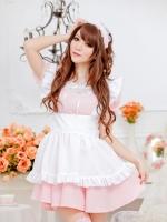 ชุดคอสเพลย์การ์ตูนญี่ปุ่นสีชมพูสาวใช้สุดน่ารัก