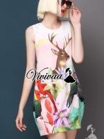 พร้อมส่ง ~ Reindeer pastel dress