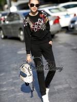 พร้อมส่ง ~ Heavy embellished sweatshirt joggers set by Sweet Bunny