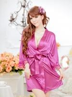ชุดนอนเสื้อคลุมสีม่วง