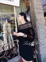 พร้อมส่ง ~ Lady Hive See-through Top Mini dress