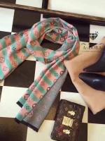 พร้อมส่ง ~ ผ้าพันคอ Lv Logomania scarf ทอลาย monogram pattern