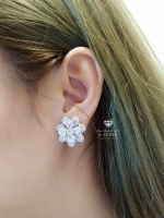 พร้อมส่ง ~ Chanel Earring ดีไซด์ดอกคามิเลีย