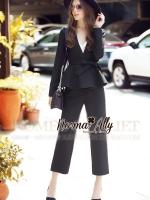 พร้อมส่ง ~ Normal Ally Present Boutique smart black set