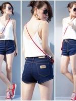 SALE 30% กางเกงยีนส์ยืด สีเข้ม ขาเว้าสุดเซ็กซี่ (ภาพงานขายจริง)ไซส์ S