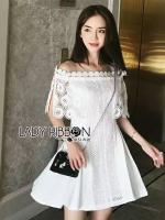 พร้อมส่ง ~ Lady Lyn Crochet lace Dress