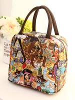 กระเป๋าถือสุภาพสตรี ผลิตจากผ้ากันน้ำได้ พิมพ์ลาย น้ำหนักเบา มีซิป ภาพจากสินค้าจริง