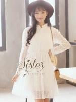 พร้อมส่ง ~ White lace style Cutie Janpanese