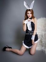 ชุดกระต่ายแฟนซีสีดำเซ็กซี่ Bunny Girl คอสเพลย์
