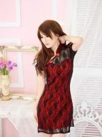 ชุดกีเพ้าจีนสีแดง