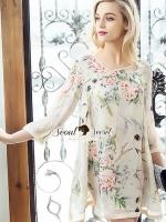 พร้อมส่ง ~ Seoul Secret Say's... Vintage Blossom Color Dress