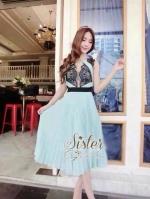 พร้อมส่ง ~ Blue Windy Dress style Sister Morgiana