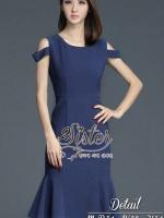 พร้อมส่ง ~ 2Sister Made, Elegant Korea Jeans Fashion Dress