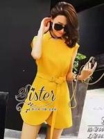 พร้อมส่ง ~ Sister made, Mini Yellow Lady Dress Cuties Style
