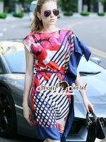 พร้อมส่ง ~ Seoul Secret Say's... D&G Tropical Bloom Print Dress