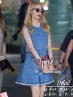 พร้อมส่ง ~ Sister made, Lovely Cuties Korea Jeans Dress