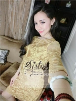 พร้อมส่ง ~ 2sister made, Golden Premium Sparkling Aisan Dress