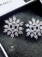 พร้อมส่ง ~ Chanel Earring ต่างหูเพชร CZ แท้