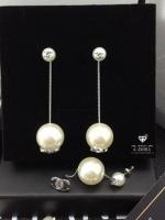 พร้อมส่ง ~ Chanel Earring ต่างหูชาแนลทรงห้อยตุ้งติ้ง