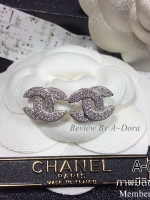 พร้อมส่ง ~ Chanel Earring งานเพชร CZ แท้