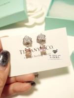พร้อมส่ง ~ Rose earring ตามแบบฉบับ Piaget Brand งานเพชรเกรด Jewelry Miror Quality